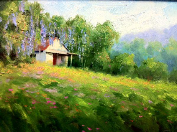 Azalea Shack Oil Painting