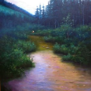 Fly Fishing Colorado Rockies Oil Painting
