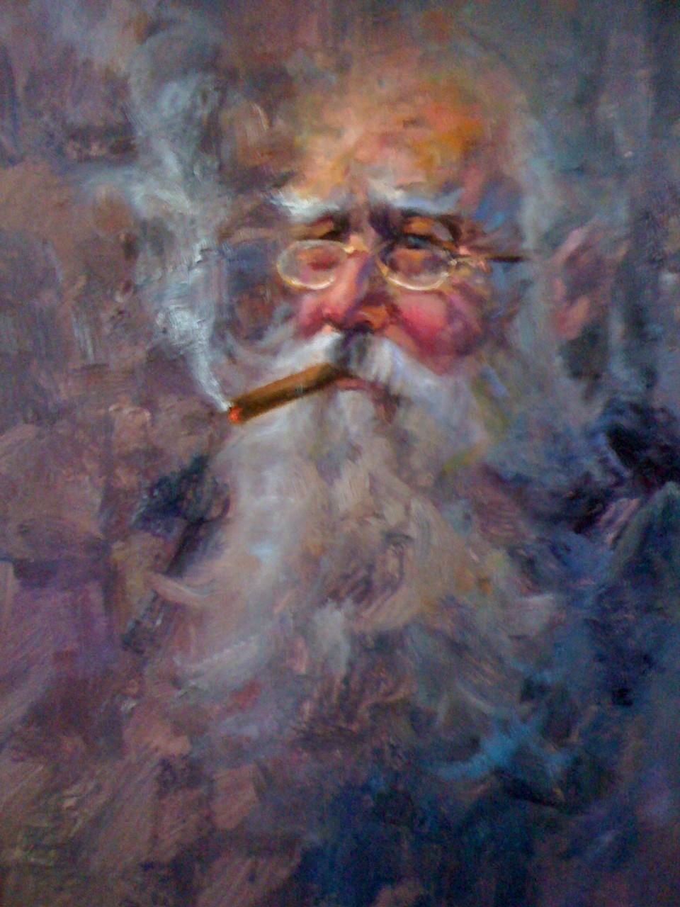 Havana Cuban Cigar Break Oil Painting