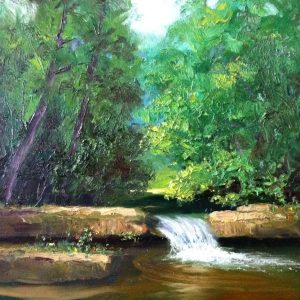 Newton Creek Landscape Oil Painting