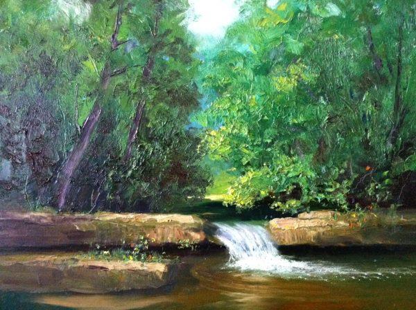 Newton Creek Landscape Oil Painting
