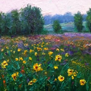 Okatibbee Sunflower Field Painting
