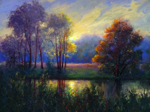 River Landscape Oil Painting