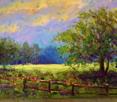 Pasture Oil Painting