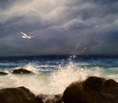 Atlantic Surf Beach Painting