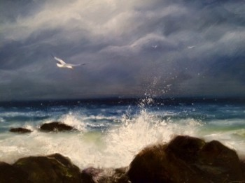 Atlantic Surf Beach Painting