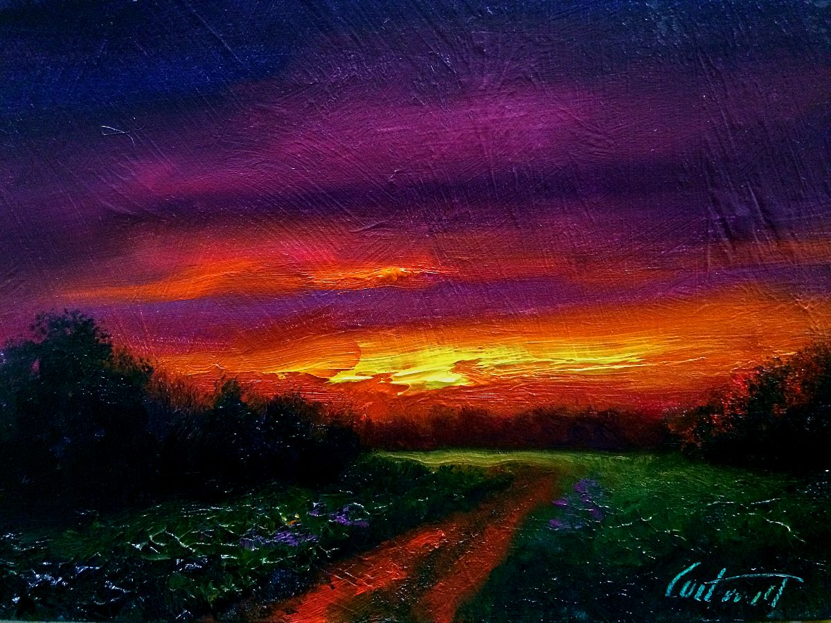 Bailey Sunset Oil Painting