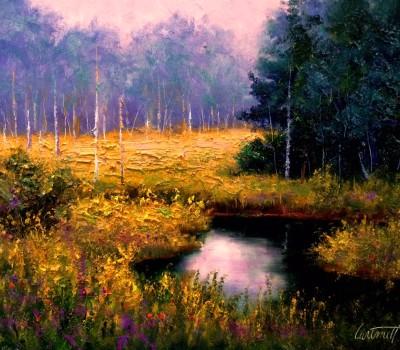 Black Water Swamp Painting