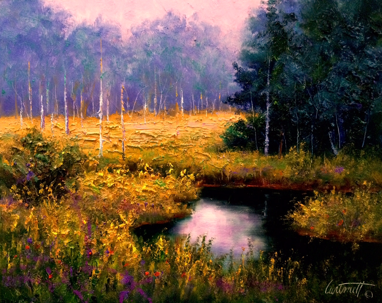 Black Water Swamp Painting