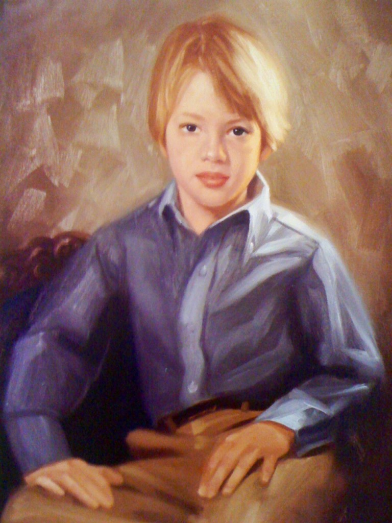 Boy Caleb Portrait Painting