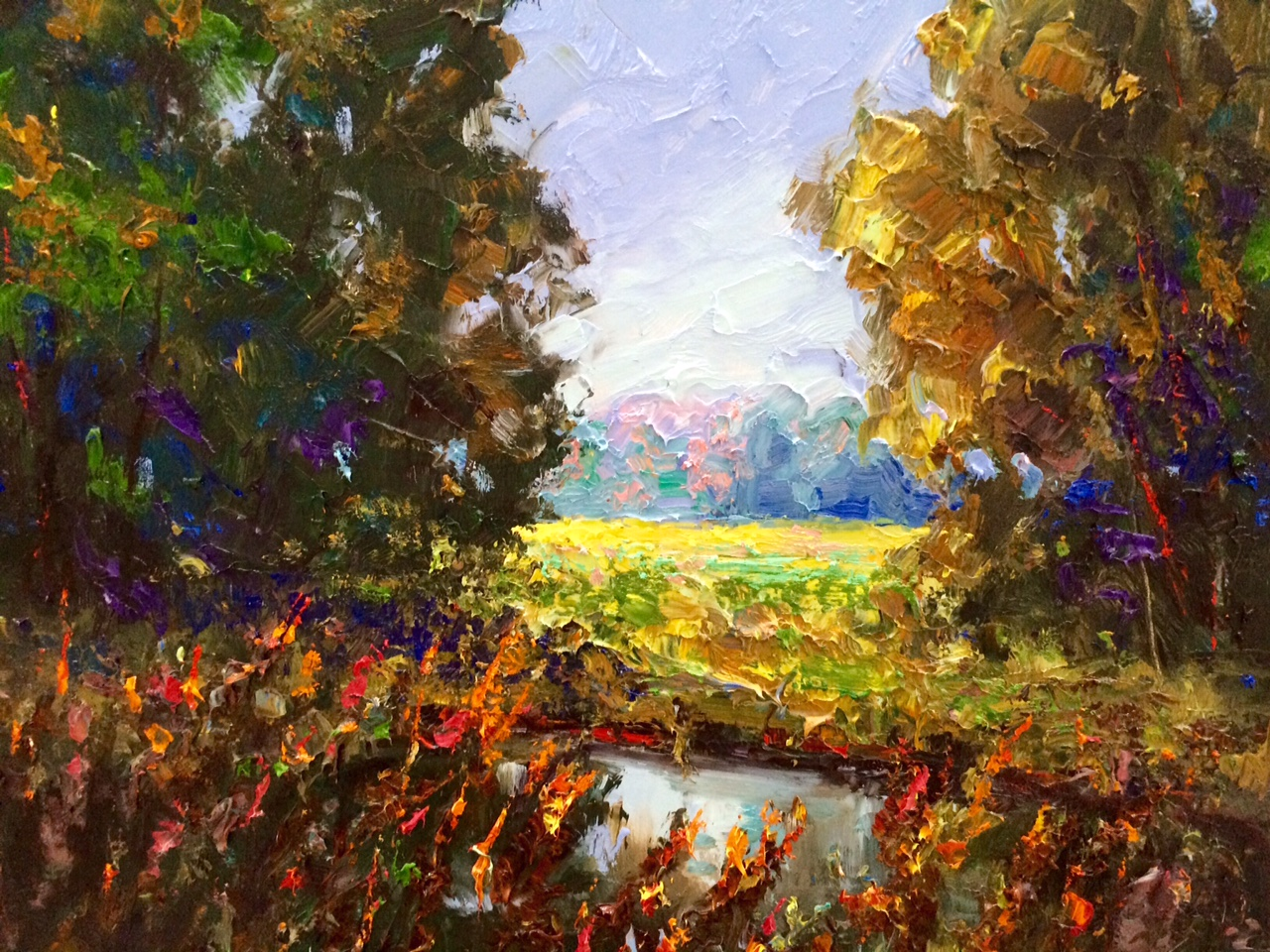 Broken Color Meadow Impressionist Painting