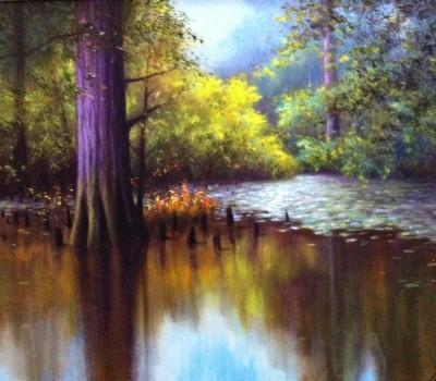 Burnside Swamp Oil Painting