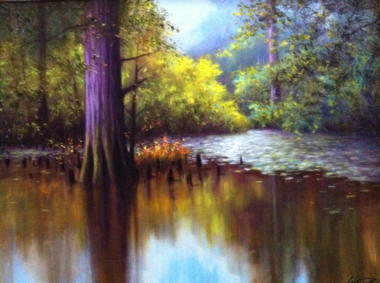 Burnside Swamp Oil Painting