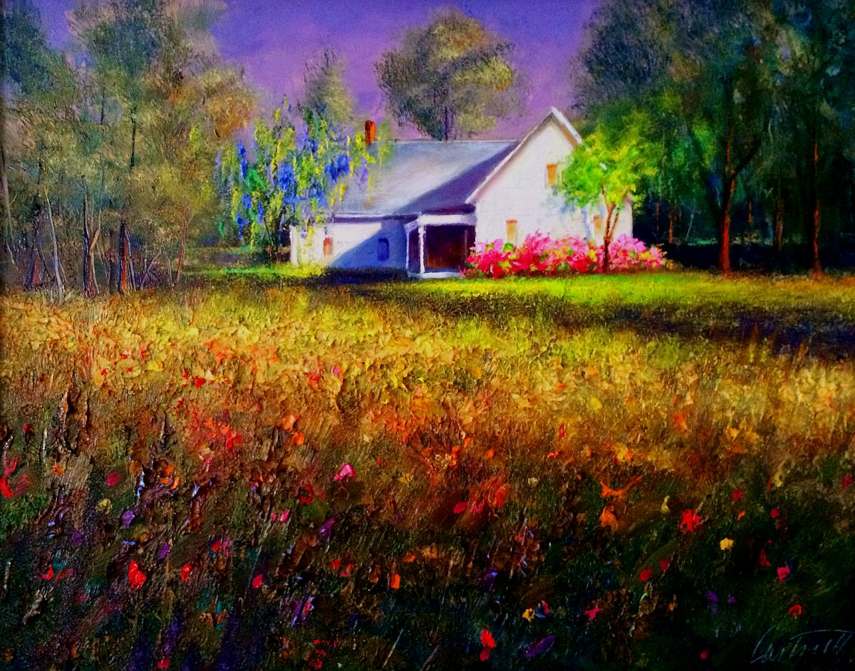Cottage After The Storm Painting