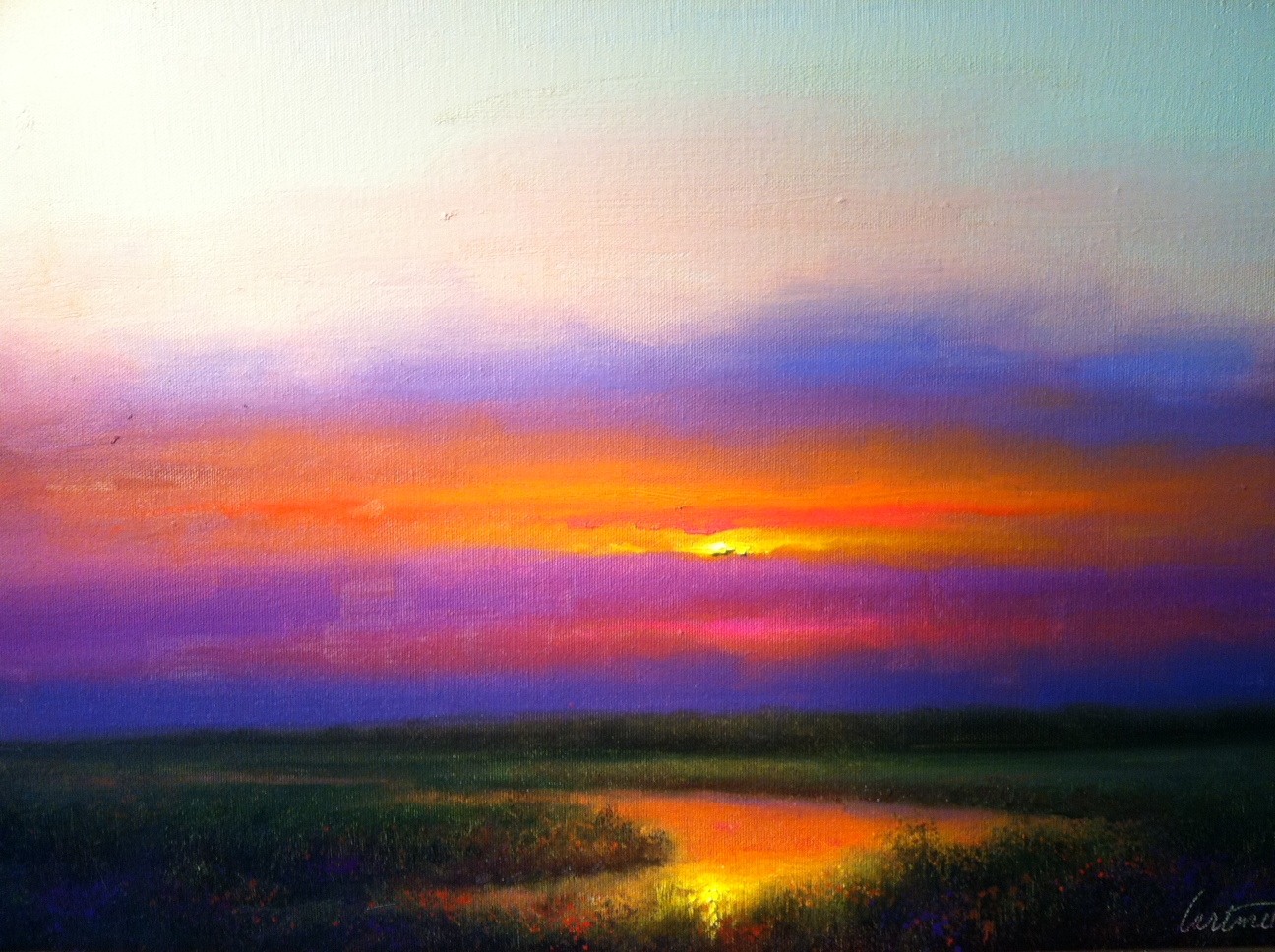 Evening Colors Sunset Painting