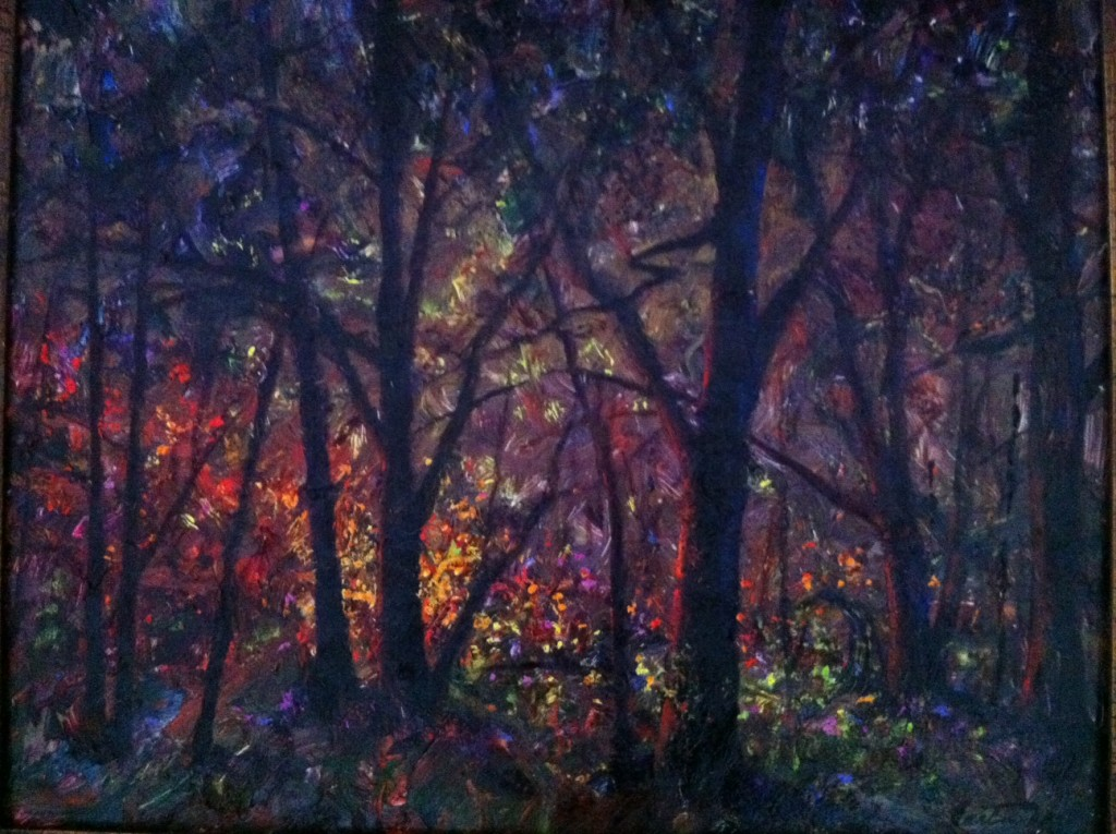 Forest Light Bright in Impasto Oils