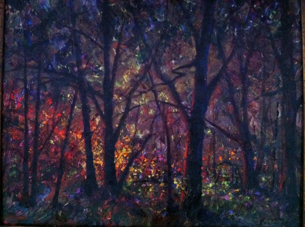 Forest Light Bright in Impasto Oils
