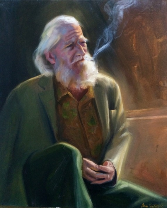 Traveling Old Man Painting