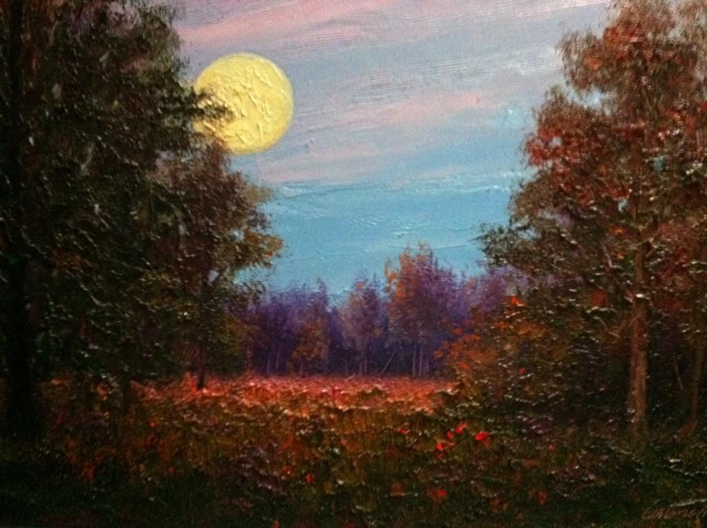 Last October Moon Painting