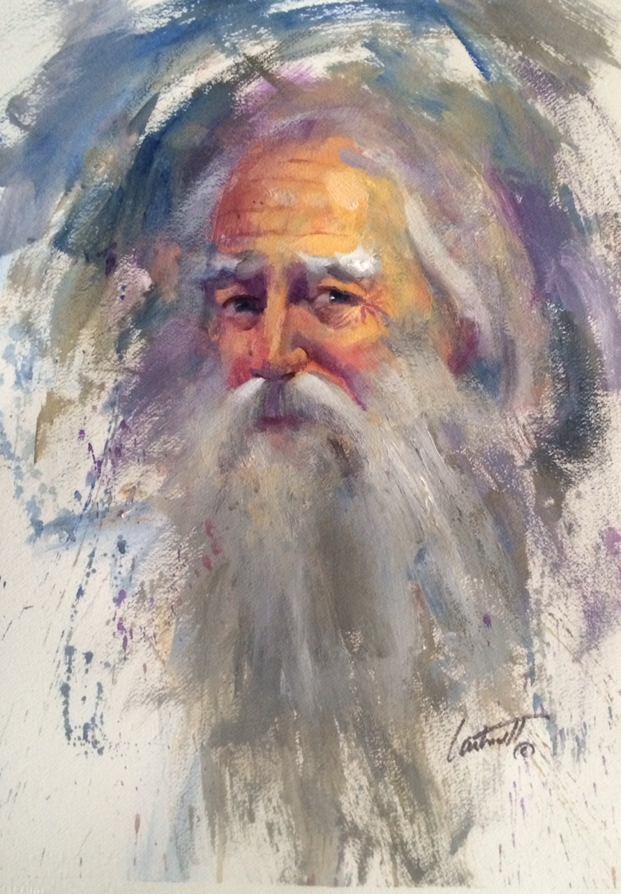 Loose Wise Old Man Old Painting