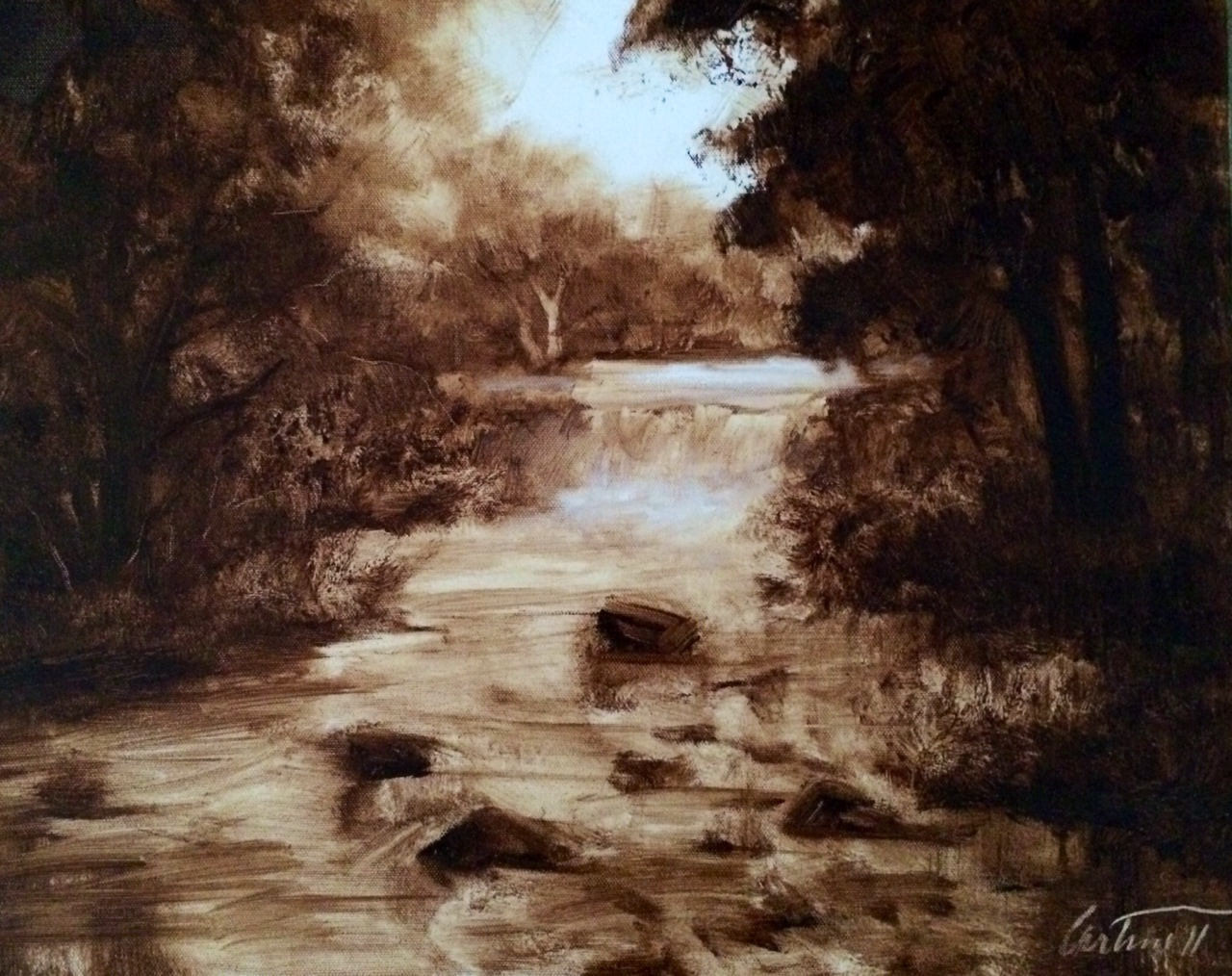 Monochrome Oil Painting