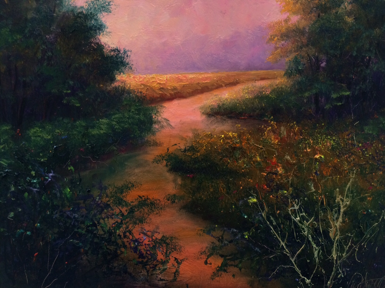 Peach Light Landscape Fine Art Original