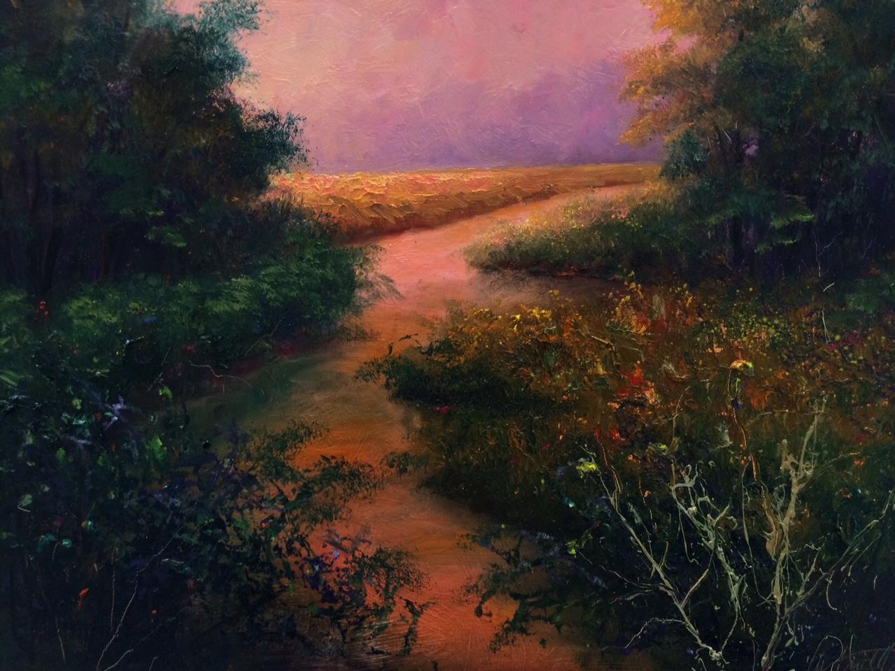 Peach Light Landscape Fine Art Original