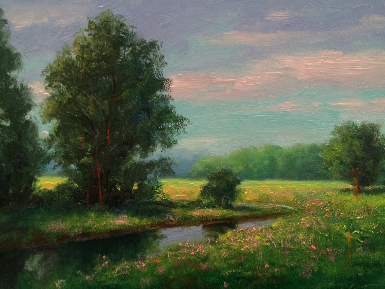 Saturday morning Landscape Art Work