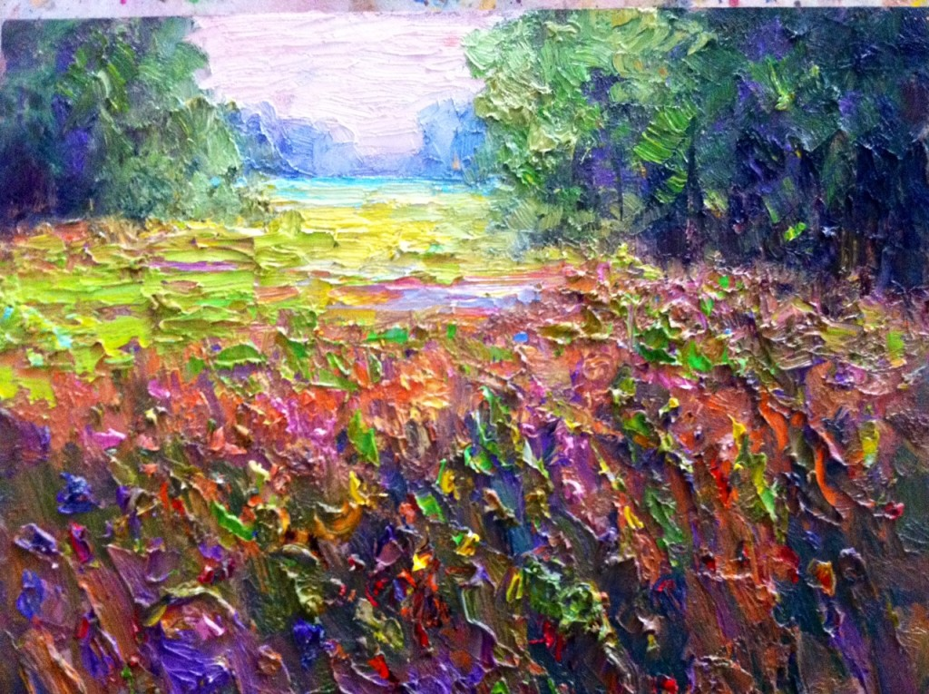 Where the Quail Live Oil Painting