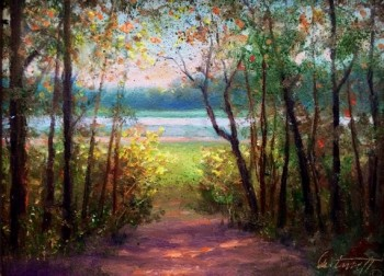 mississippi okatibee lake painting