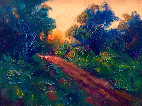 End of Day Oil on Panel