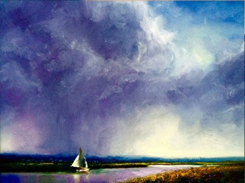 mobile bay seascape oil painting