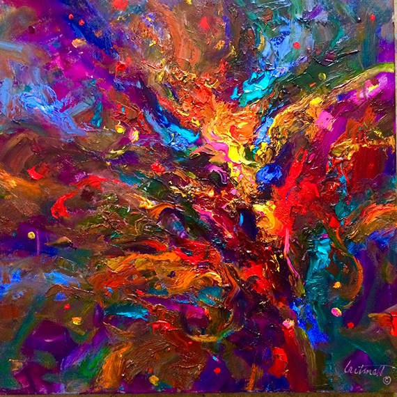 Fusillade Abstract Oil Painting