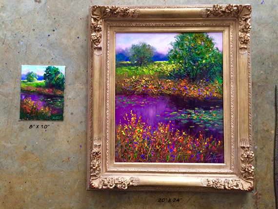 landscape field study original painting