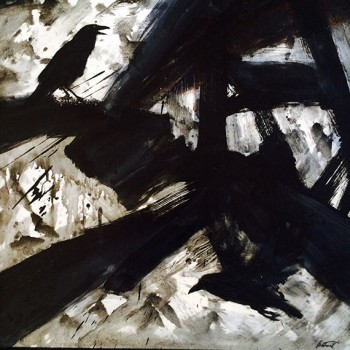 ode to klein crow painting