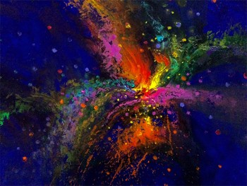 Chroma Fusion Abstract Art