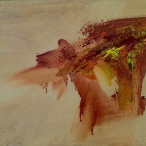 Earth Tones Abstract Oil Painting