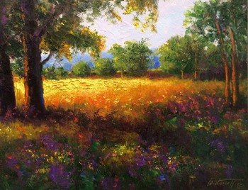 Golden Meadow Painting