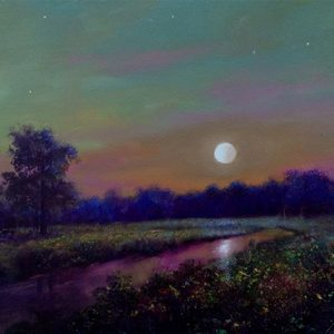 original moonrise oil painting