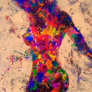 nude abstract painting