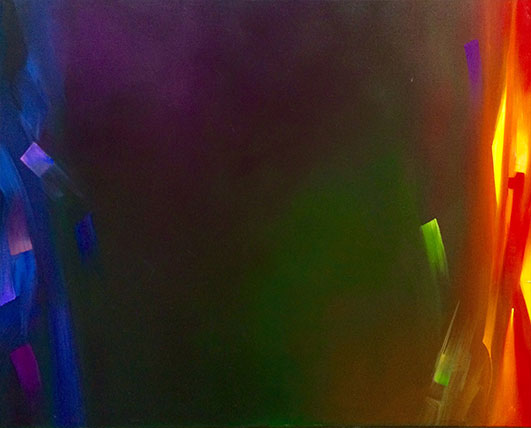 24 hours abstract oil painting
