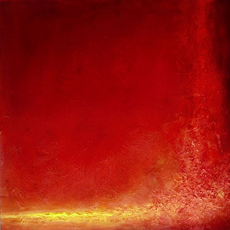 Hotel Fire Abstract Painting