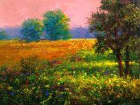 peach meadow landscape oil painting