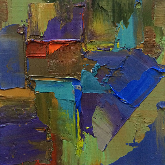 saturday morning small abstract painting