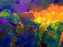 August 25 Abstract Oil on Canvas