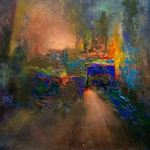 lost city abstract oil painting