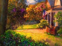 summer light painting