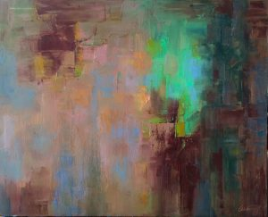wake up call abstract oil painting