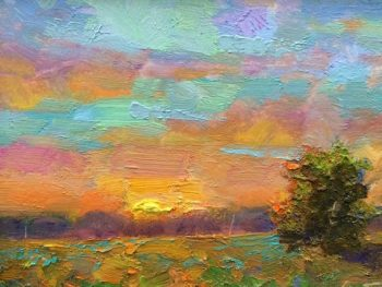Almost Dusk Oil Painting