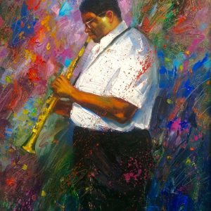 Jazzman Oil Painting 16x20